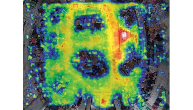 video analytics heatmap