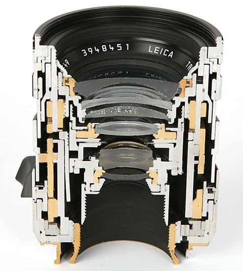 Camera Lens Cut in Half