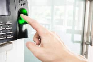 Biometric finger print scanner