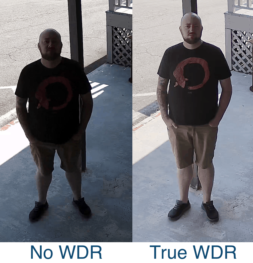 WDR license plate camera