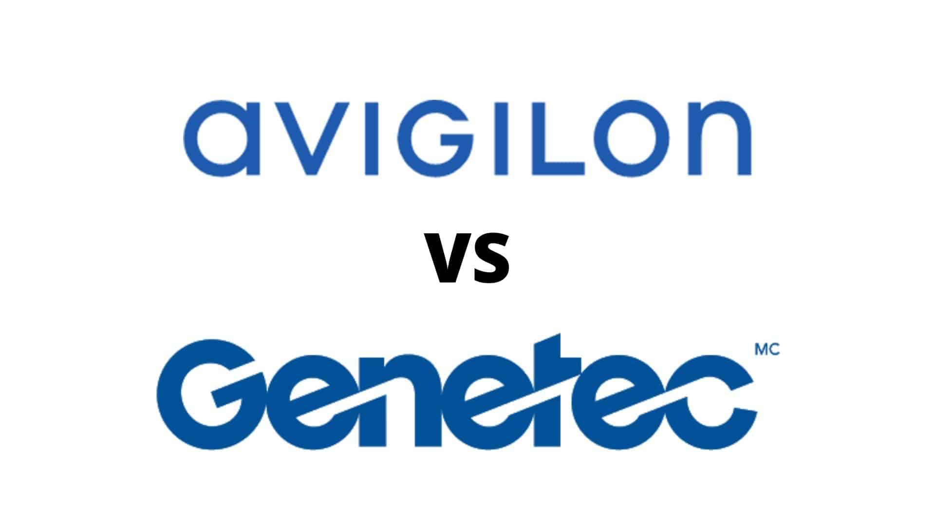 avigilon vs genetec