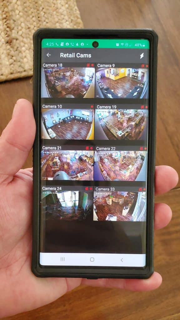 remote video monitoring on smartphone