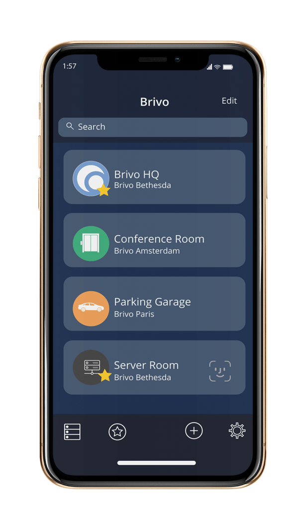 brivo mobile features