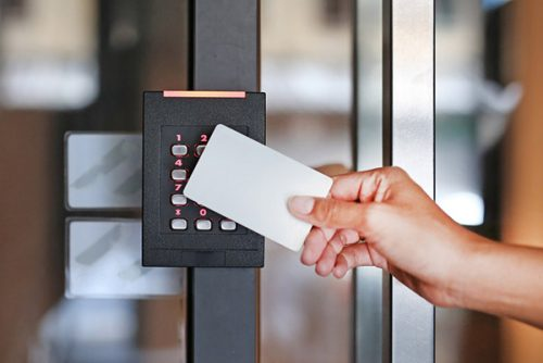 Access card reader.
