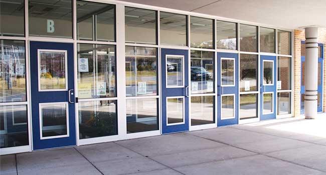 School entrace access point.