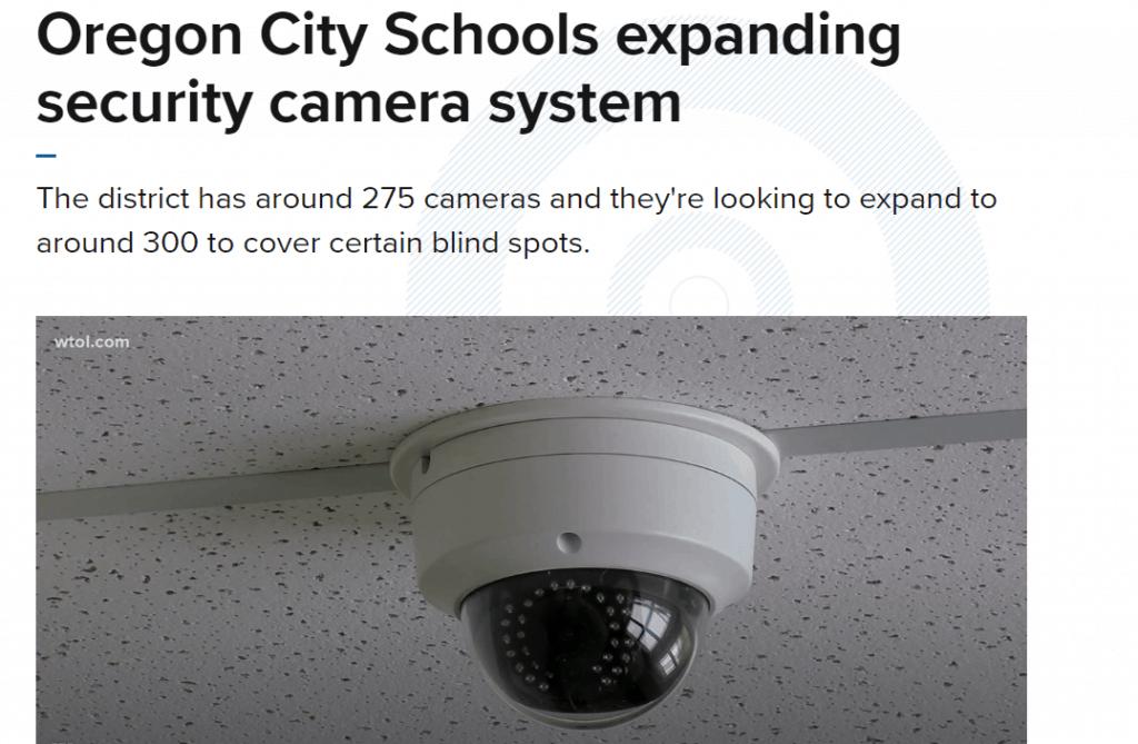 Oregon school security camera.