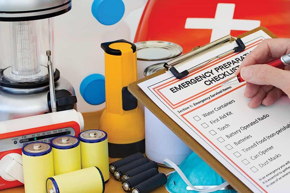 Emergency prepardness checklist.