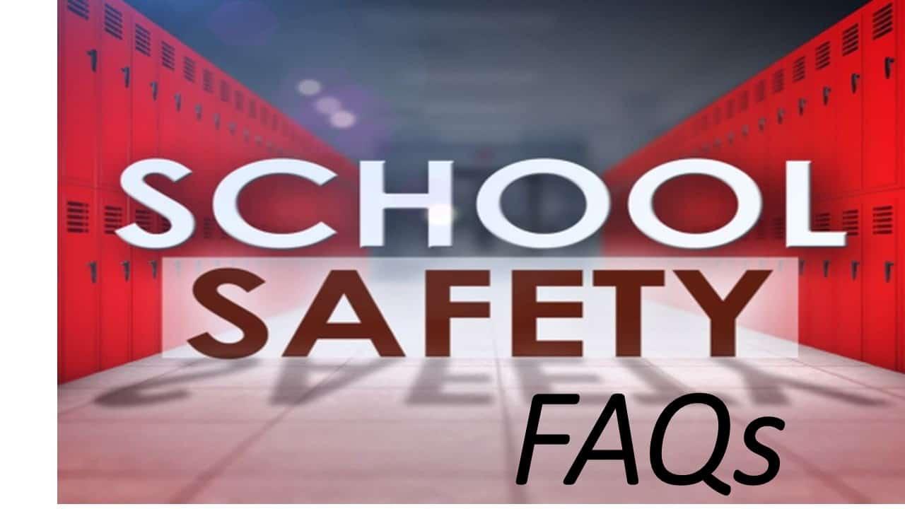 School safety sign lockers.
