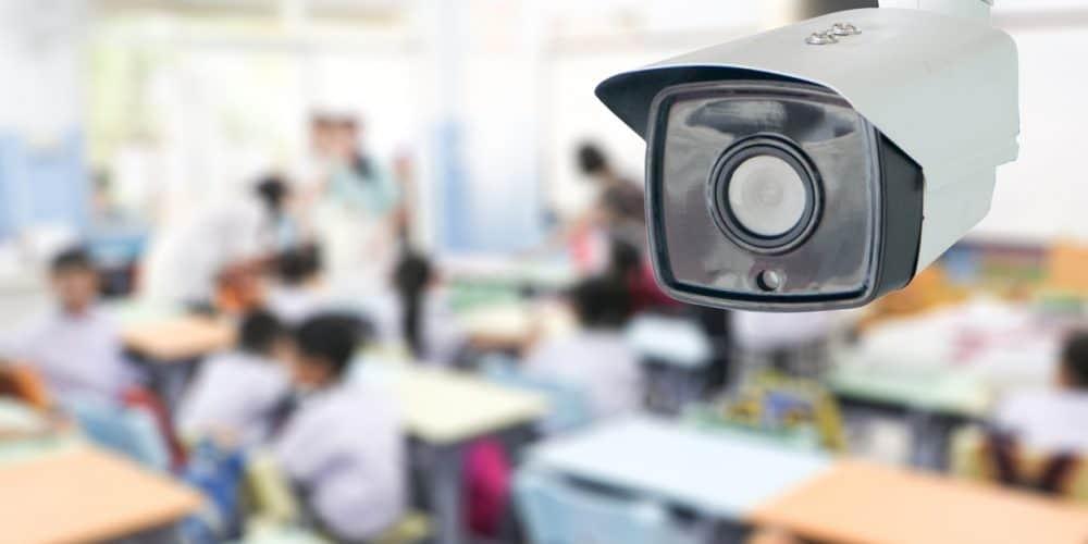 Classroom security cameras.
